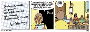 Un strip de Gad sur le site Glory Owl