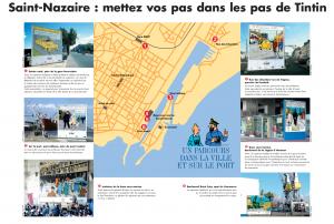Les 6 étapes du parcours Tintin à Saint-Nazaire (2004)