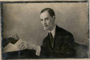 Portrait de Saint-Ogan en 1925 par son ami Armand Leleux.