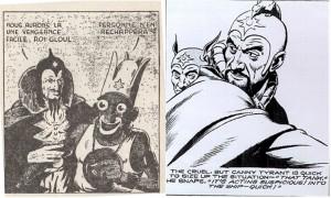 Vénine (à gauche), copie directe de Ming, le méchant empereur de Flash Gordon