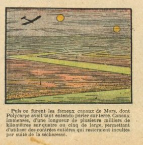 """Les canaux martiens, souvenir d'une controverse scientifique du siècle passé (""""Dans la planète Mars, février 1915)"""