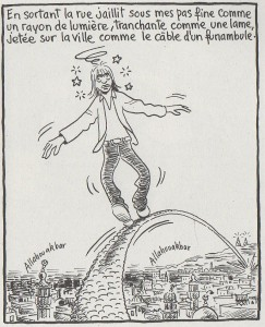 Golo période 70's, ici après s'être rempli la tête d'histoires cairotes. (Carnets du Caire, tome 2)